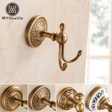 Free Shipping Design Robe Hook,Clothes Hook,Solid Brass Construction Antique Bath Hardware Accessory Dome Decoration