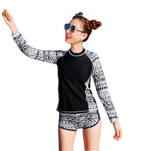 Long Sleeve Swimsuit For Women Rashguard Swim Shirts Korea Swimwear Rash Guard Pants Surf Camisa Uv Bodyboard Camisetas De Surf