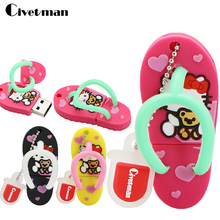 Hot cartoon hello kitty cat shoes model USB Flash Drive 4GB 8GB 16GB 32GB 64GB usb Flash 2.0 Memory Drive Stick Pen / Thumb