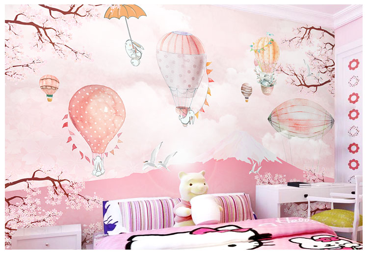 HTB1fkZpqhGYBuNjy0Fnq6x5lpXaA - Pink Sky Cloud 3d Cartoon Wallpaper Murals for Girls Room-Free Shipping