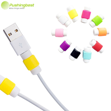 Pushingbest USB Cable Protector Cover Case For Apple Iphone 4 5 5s 6 7 Plus 6S Colorful Phone Charging line data cable