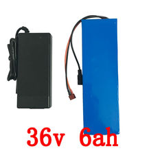 Electric Bicycle Battery 36v 6Ah 250Watt EBike Battery 36V with 42v 2A charger,15A BMS 36v Lithium Battery Free Shipping