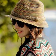 New Korean Version Summer beach Hats for Woman Outer Women Sun Hat Straw Caps wholesale(China)