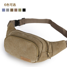 Man Canvas Waist Bag Handy Travelling Belt Pack Causal Pouch SX503