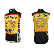 Promotion price new popular beer sport biking vest maillot cycling apparel ropa ciclismo racing clothes italy ink back pockets