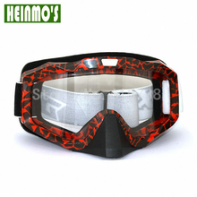 2017 Design Cycling Goggles with Nose helmet Glasses motocross Motorbike goggles motorcycle glasses(China)