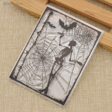 She Love Transparent Silicone Clear Stamp Skeleton Web Pattern DIY Scrapbooking Card Making Handicrafts Decoration(China)