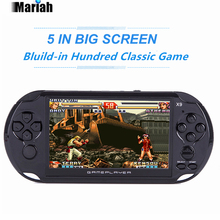 New 5.0 Large Screen Handheld Game Console 8GB Support TV Output 32 bit Classic Game Player Multimedia Camera Video Game Console(China)