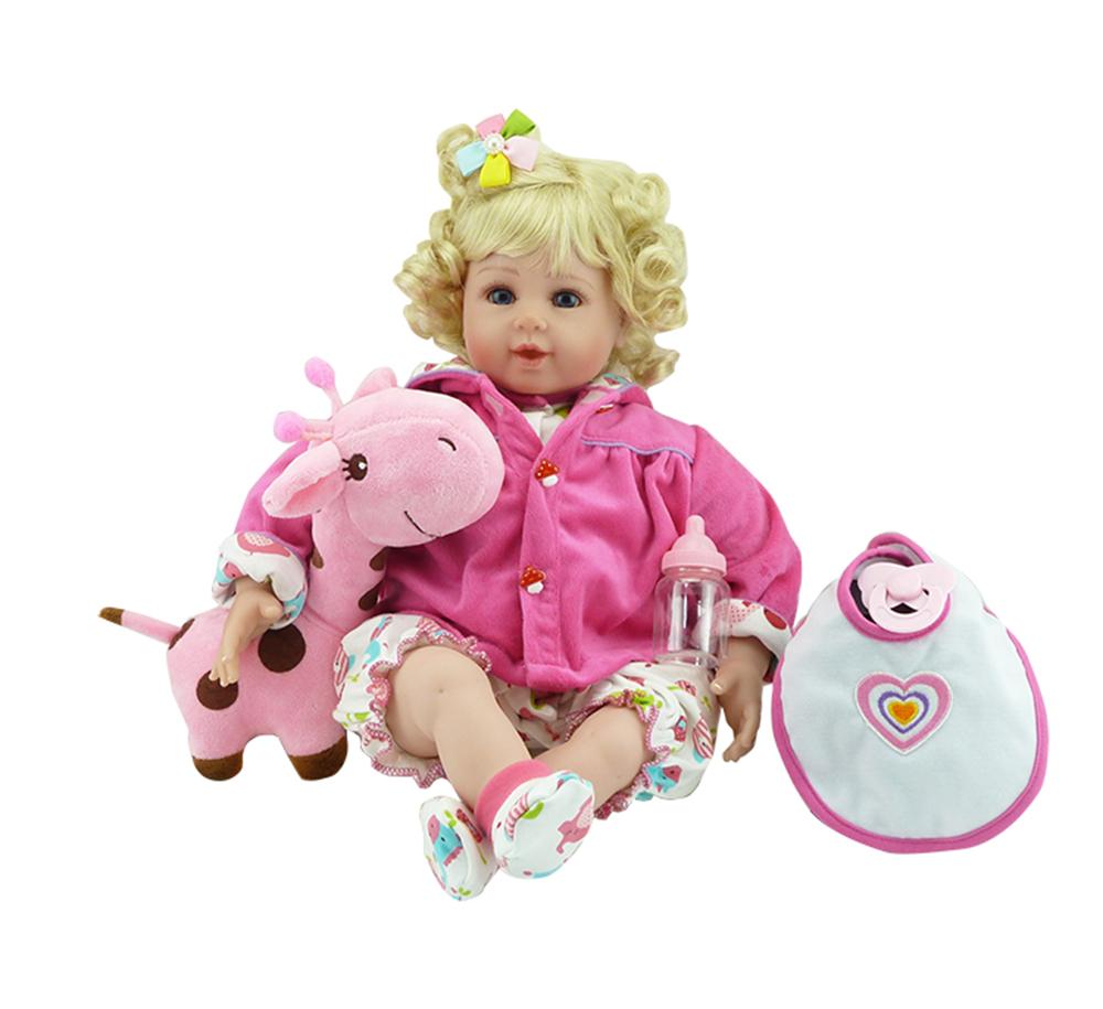 New Silicone Vinyl Adora Lifelike 20 Toddler Baby Bonecas Girl Kid Doll Bebe Reborn Menina De Silicone Toys For Children (3)