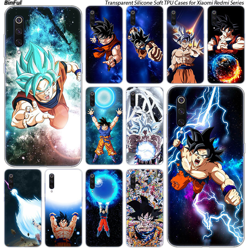 Чехол Dragon Ball Goku Ultra Instinct для Xiaomi Pocophone F1 9T 9 9SE 8 A2 Lite A1 Mix3 Redmi K20 7A Note 4 4X 5 6 7 Pro