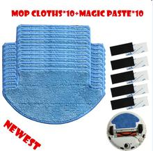 10x Robot Mop Cloths + 10x Magic Paste Kit for Xiaomi Mi Robotic Vacuum Cleaner Parts(China)