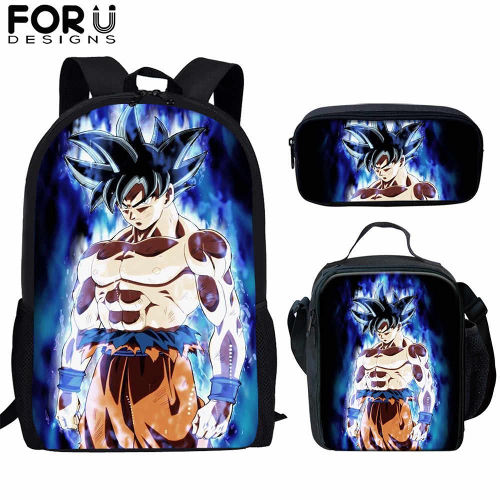 "Boys Dragon Ball Kids Backpack Saiyan Sun Goku Vegeta School Bag Rucksack 17/"""