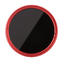 FOTGA 58mm Variable Fader ND Lens Filter ND2 to ND400 ND100 ND32 ND16 ND8 ND4 Neutral Density Red