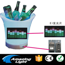 LED bottle sticker music Rhythm el sticker el music activated panel led paper Car decoration with DC3V inverter(China)