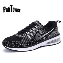 2753ae7bf8399 Basket Homme Femme Plus Size Men Women Running Shoes Flyknit Racer Cushion  Sneakers Joggings Zapatos Mujer