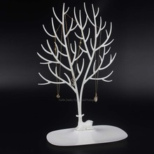 Fashion Plastic Tree Necklace Display Rack Bracelet Showing Stand Earring Holder Hanger Pendant Showcase Organizer
