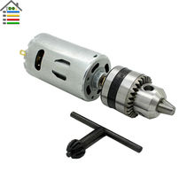 New DC24V Motor Hand Electric Drill Wood PCB PVC Press Drilling 0.6-6mm B10 Keyless Chucks with 10pc 1.5-6mm Twist Bits Set