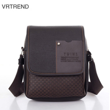 VRTREND Leather Business Men Shoulder Bags Male Shoulder Crossbody Bags Messenger Small Men Leather Bag Fashion Casual Handbgas(China)