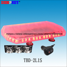 TBD-2L1S LED mini lightbar, Emergency Police clear the way car Red/ Blue DC12V-24V Flashing warning light/Heavy magnetic lights