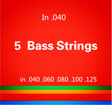 5 strings Bass guitar strings  .040-.125 Electric Bass Strings guitar parts wholesale musical instruments accessories