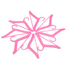 20 Pcs/1 Lot Dress Clothes Accessories Pink Hangers For Barbie Doll Pretend Play Girls' Gift Dolls Accessories(China)