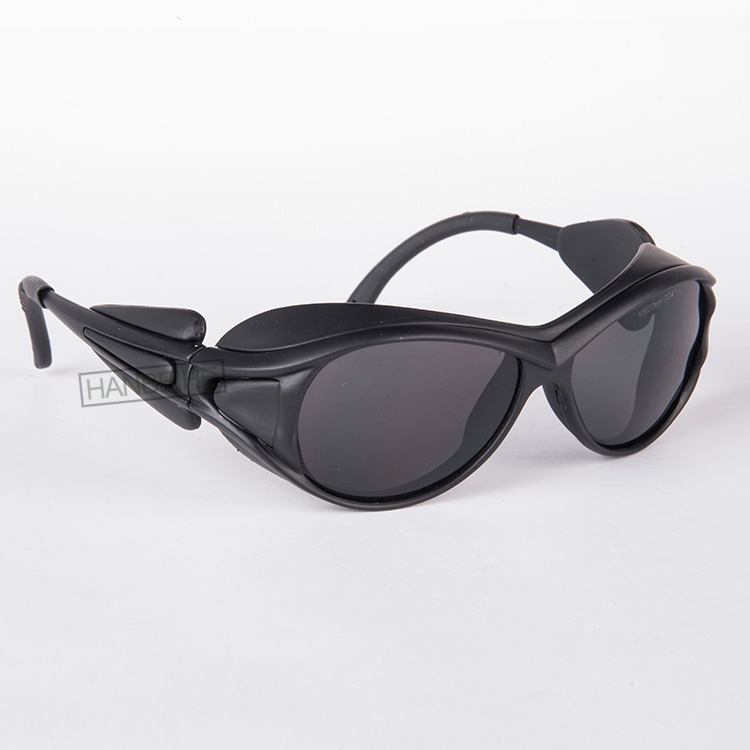 HANBEIHE LSG-4 co2 Laser safety glasses for 10600nm Co2 laser , CE O.D 4+ VLT&gt;95%<br>
