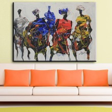 ZZ1359 modern abstract canvas art abstract african people canvas pictures oil art painting for livingroom bedroom decoration art(China)