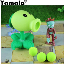 [Yamala] 2017 PVZ Plants vs Zombies Peashooter PVC Action Figure Model Toy Gifts Toys For Children High Quality Brinquedos(China)