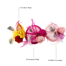 Fashion Children's Girl's Party Dancing Occassion Feather Adorn Head Band Cambric Elegant Hair Accessory Hairbands
