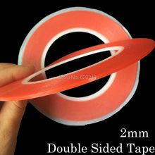2 pcs/lot Strong 2mm*25M Choose Acrylic Adhesive Double Sided Tape for iphone Battery Phone Display Lens LCD Screen ,0.2mm Thick