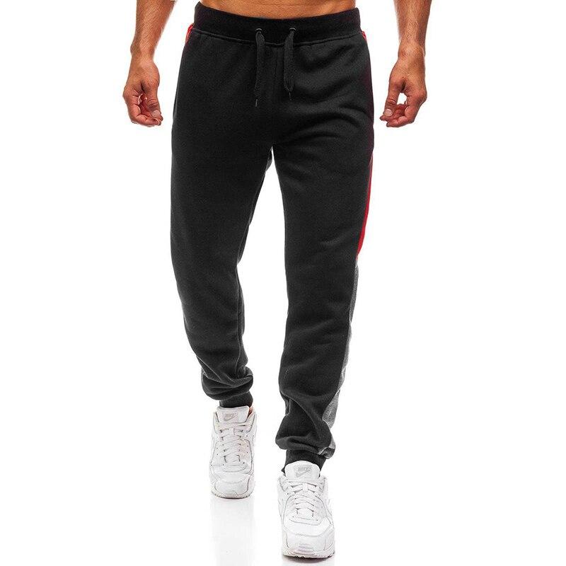 Man Tracksuit Gym Sports Pants Mens Fashion Jogging Edge Stitching Design Long Trousers Men Sweatpants Gym Muscle Pant Long Pant
