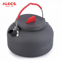 1.4L Alocs Camping Cookware 1.4L Outdoor Kettle Picnic Camping Aluminum New(China)