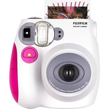 Genuine Fuji Fujifilm Instax Mini 7S Instant Printing Film Snapshot Camera Shooting Photos White Pink Blue Kamera