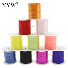 Round Elastic Cord Thread for Jewelry Making Findings, with Nylon Outside and Rubber Inside Mixcolor(China)