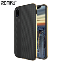 200PCS Romiky ix For iPhone x iP x Soft TPU + PC Hybrid 2 In 1 Cases For iPhone x Carbon Fiber Texture Cover Full Protection(China)