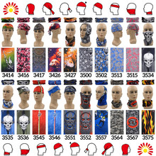 Headband Scarf 100% Polyester Microfiber Bandana Fabric Multifunctional Seamless Bandana Tube Headband Turbante(China)