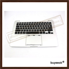"Original Laptop Replacment For Apple MacBook Pro A1502 2013 13"" Retina Top Case Palmrest + Keyboard 613-0984-A Without Touchpad"