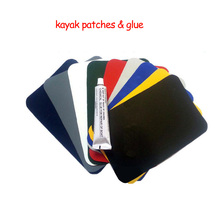 Inflatable Kayak Boat Dinghy Rib Canoe Waterproof PVC Repair Patch Kit 20 x 13cm 9 Colors Available(China)
