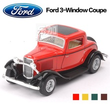 High Simulation Exquisite Baby Toys: KiNSMART Car Styling 1932 Ford 3-Window Coupe Model 1:36 Alloy Sports Car Model Best Gifts