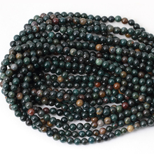 Bloodstone Natural Stone beads High quality Round ball 4/6/8/10MM heliotrope Loose beads for jewelry making bracelet DIY
