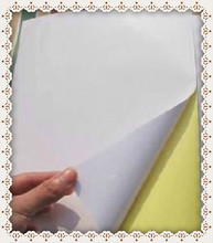 A4 blank white coated glossy self-adhesive label sticker A4 label paper for laser printer