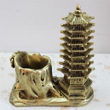 Vintage Resin Wen Chang Tower  Imitation Pen Container  Resin Pencil case  Home Table Decoration Accessories miniature
