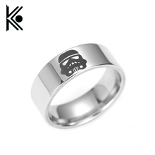 free shipping Star Wars Rings Stainless Steel alliance badge  jewelry Titanium steel ring 7-13
