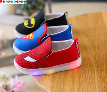 Buy New 2017 glowing kids sneakers hot sales cute baby girls boys shoes Spring/Summer cartoon funny lighted children casual shoes for $7.81 in AliExpress store