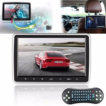 10 Inch HD 1024*600 TFT LCD Screen Portable Car Headrest Monitor DVD Player USB/SD Touch Button Game Remote Control