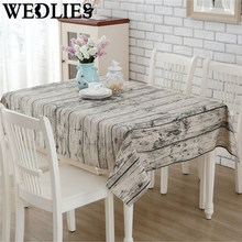 140 x 180cm Wood Grain Tablecloth Burlap Table Runners Cheap Tablecloths for Sale Linen Simple Knitted Striped Classic