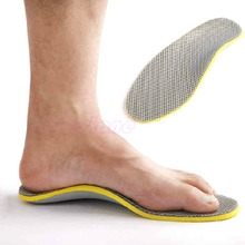 THINKTHENDO US 7.5-12.5 Men Footful Arch Support Insoles Flat Shoes Pads With Cuttable NEW