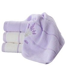 Hand Towel Washcloths For Face Hair Home Bathroom Outdoor And Travel Towels Cotton Soft High Absorbent Lavender