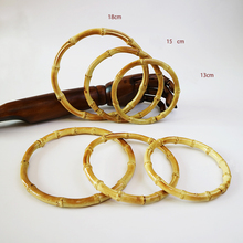 4 pairs=8 pieces O Shape Nature Color Bamboo Bag Handle DIY Accessories Obag Handle Cane Ratten Purse Handle Bamboo Purse Handle