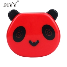 Cartoon Panda Candy Color Contact Lens Box Case For Eyes Care Kit Mar7 Levert Dropship